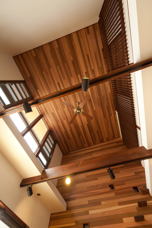 広島の建築設計事務所かんくう建築デザインのかんくうの家づくりの2.自然素材使用、木を現す家