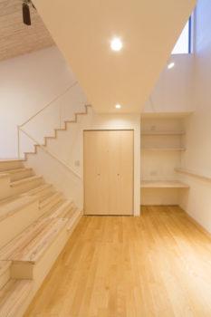 広島の建築設計事務所 かんくう建築デザインの珪藻土の壁天井