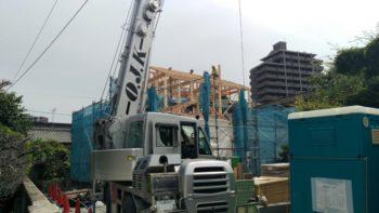 広島の建築設計事務所 かんくう建築デザインの古市の家の棟上げ3