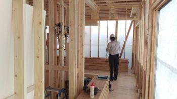 広島市安佐南区の建築設計事務所 かんくう建築デザインの古市の家の中間検査1