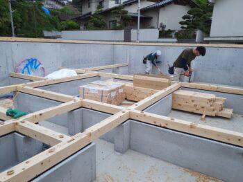 広島市安佐南区 建築設計事務所 かんくう建築デザイン 土台敷