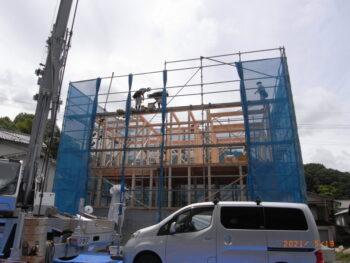 広島市安佐南区 建築設計事務所 かんくう建築デザイン 棟上げ